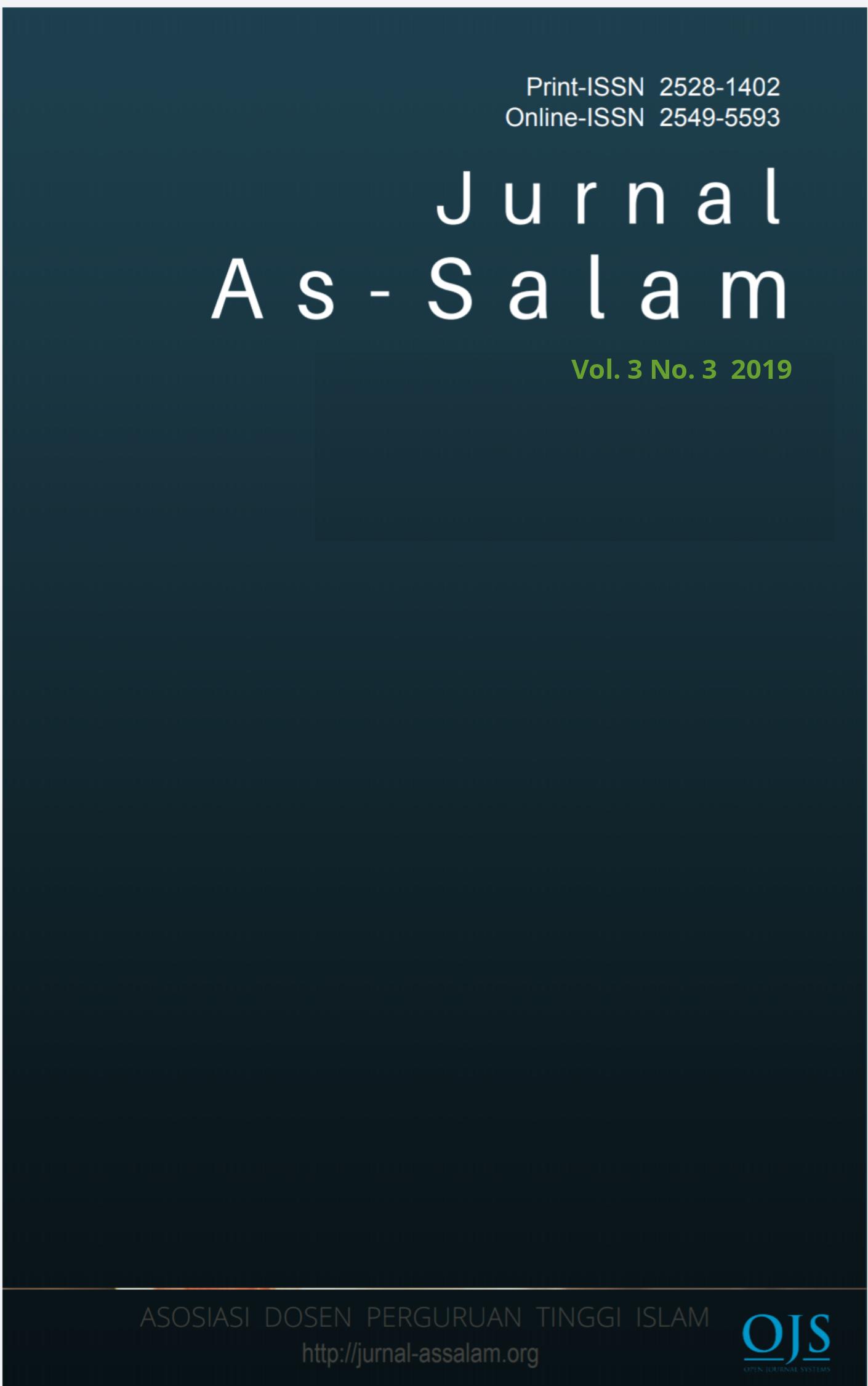 View Vol. 3 No. 3 (2019): Jurnal As-Salam
