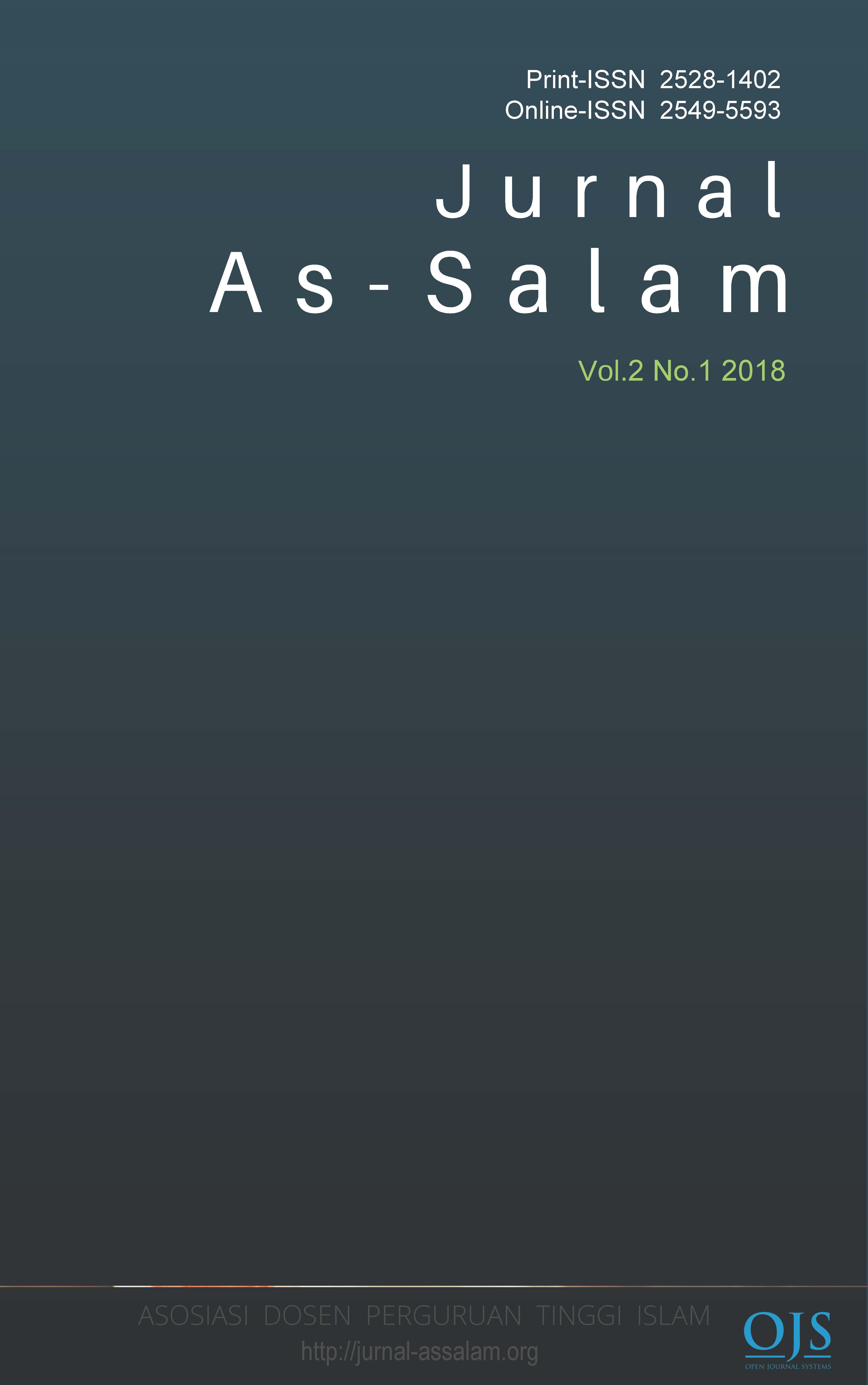 View Vol. 2 No. 1 (2018): Jurnal As-Salam